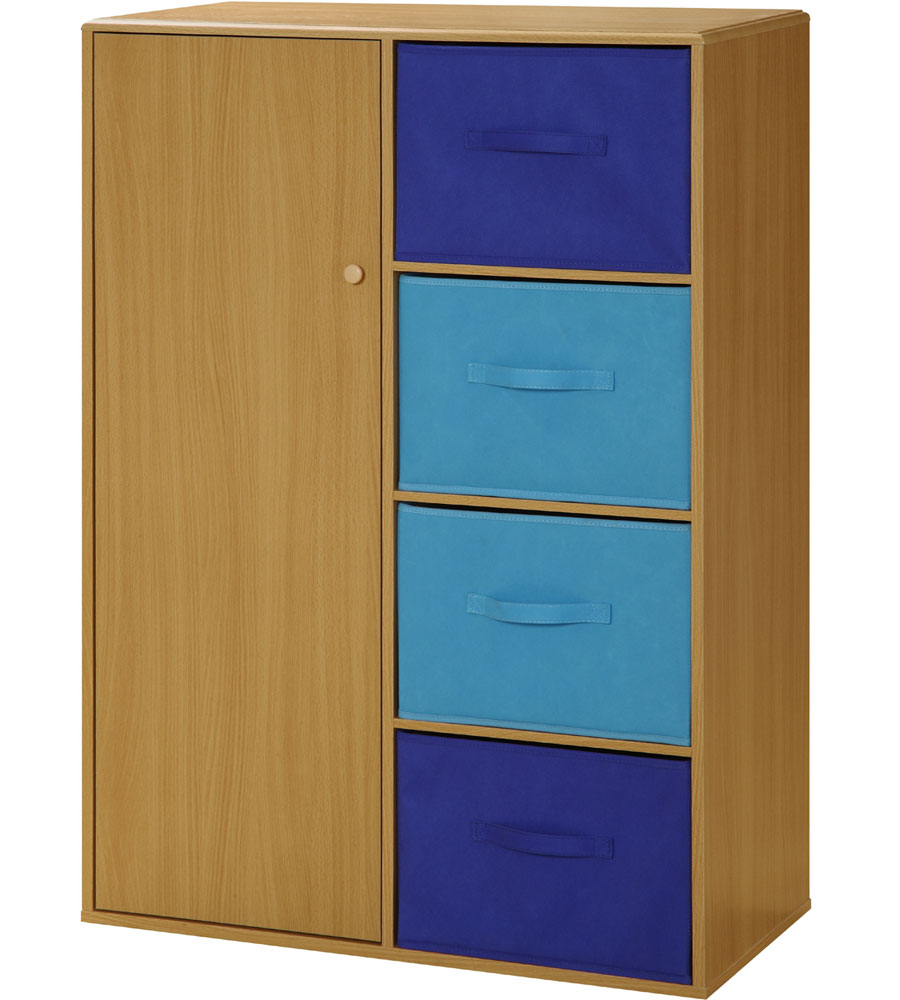 Kids Storage Cabinet with Baskets in Storage Cubes
